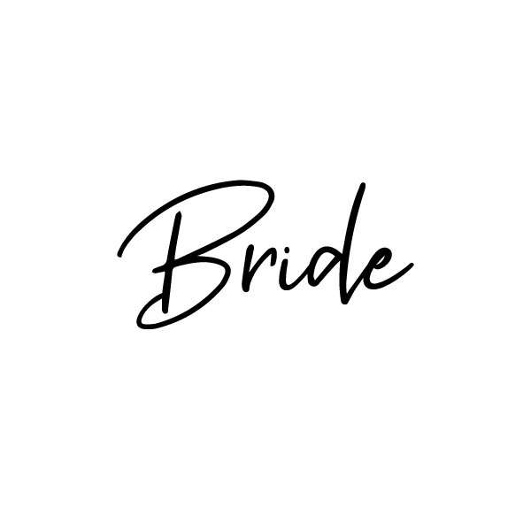Bride woord sticker