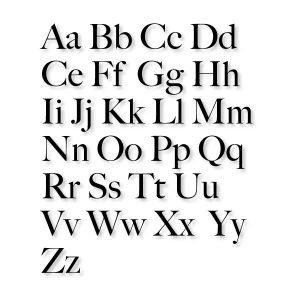 Naam chic alfabet strijk