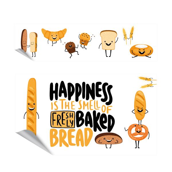 Fresh bread keukensticker set