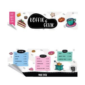 Koffie & gebak keukensticker set