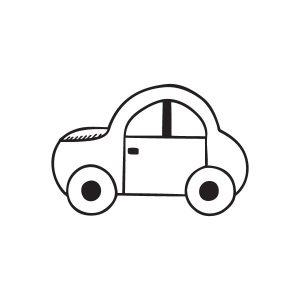 Auto opruimsticker