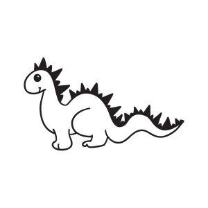 Dino opruimsticker