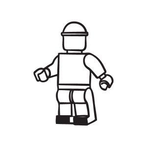Lego pop opruimsticker