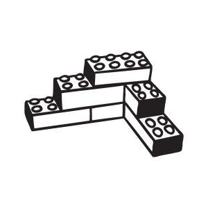 Lego opruimsticker