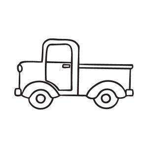 Vrachtwagen opruimsticker