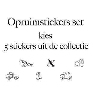 Set 5 opruimstickers