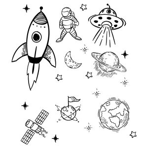 Space muursticker