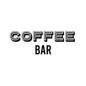 Coffee bar deursticker