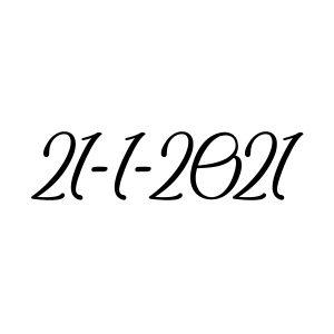 Datum sneaker sticker strijkapplicatie