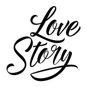 Love story strijkapplicatie