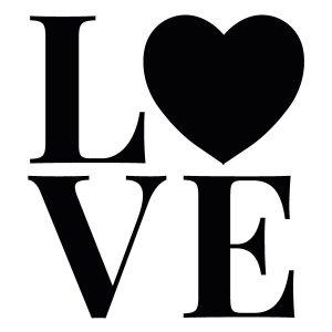 Love strijkapplicatie
